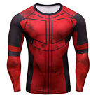 Movie Deadpool Shirt Tee 3D Printed T-shirts Cosplay Men Fitness Long Sleeve HOT
