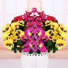 Artificial Pansy Fake Flower Bedding Plant Bunch Home Party Wedding Floral Decor