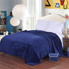 Flannel Blanket Soft Warm Solid Big Plush Home Blanket Bedding Blankets Flat image