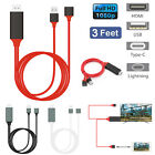 USB Type C HDMI w/Charging Cable for Samsung Galaxy S9 Plus iPhone