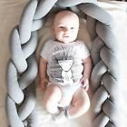 Kids Long Knotted Braid Pillows Sofa Cushion Decor Baby Crib Bumper MU