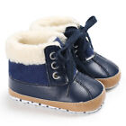 USA Infant Toddler Shoes Baby Boy Ankle Snow Boots Crib Shoes Anti-slip Sneakers