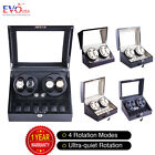 Luxury Automatic Dual Motor Watch Winder Display Box 4+6 Leather Storage AAA+