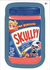 2013 Wacky Packages Series 11 Blue #51b Skullpy/ (Mobster High puzzle back)