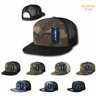 50 Lot Camouflage Camo Flat Bill Foam Mesh Trucker Hats Caps Wholesale Bulk