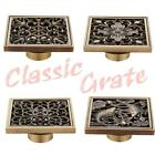 AU Stock Classic Floor Drain Grate Shower Square Bathroom Waste Quality Copper