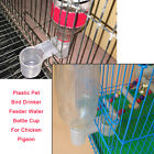 Plastic Pet Bird Drinker Feeder Water Bottle Cup Accessory For Chicken Pigeon YU