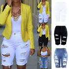 NEW Womens Elastic Destroyed Hole Leggings Short Pants Denim Shorts Ripped Jeans
