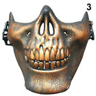 Skeleton Half Face Mask Costume Halloween Party Airsoft Skull Mask Motorcycle EP
