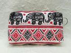 Thai Handicraft Elephant Hippie Vintage Bag Purse Wallet Coin Banknote Gift New