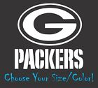 Green Bay Packers Football Vinyl Decal Sticker for NFL Car Truck Window Yeti Rt $4.47 USD on eBay