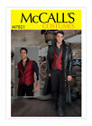 McCall's M7821 Mens Cosplay Steampunk Pirate Coat Vest Patte