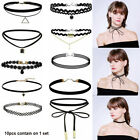 10 Pieces Choker Necklace Women Girls Black Classic Velvet Stretch Neck Jewelry.