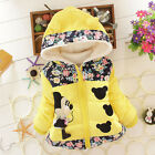 Toddler Baby Girls Cartoon Minnie Jacket Hooded Coat Winter Warm Tops Outwear