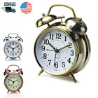 Twin Bell Alarm Clock Style Vintage Retro with Stereoscopic Dial Backlight