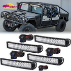 Upper 20'' Curved LED Light Bar FOR Fog Driving Lmaps+Wire 4set 02-10 Hummer H2