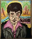 (Small)King of Miami Scarface Painting. (Multi-Color Acrylic Painting)