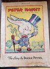 Peter Rabbit Vintage Beatrix Potter Jo Musial 1936 Whitman Linen-Like #951