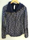 Anthroplogie Jacket Small Pure and Good Blue Ruffled Athleisure Workout Zip Up