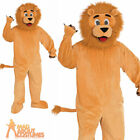 Adult Mens Lion Mascot Costume Animal Cat Zoo Wild Fancy Dress Outfit Womens