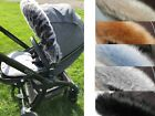 EGG Hood fur trim fit most pam pushchair Bugaboo Stokke Icandy Mima Venicci