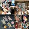 For Samsung NOTE10+ s9 8 10 3D flower/Grid leather Square trunk style Case cover