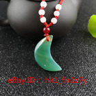Natural Agate Moon  Pendant Fashion Chinese Chalcedony Necklace Charm Jewelry