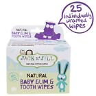 Jack N Jill Natural Baby Gum & Tooth Wipes - 25 Wipes - Safe From Birth