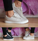 Ladies Womens Trainers Lace Up Sneakers Casual Plimsolls Skaters Shoes Size