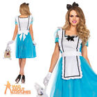 Adult Classic Alice Teaparty Costume Fairytale Ladies Womens Sexy Fancy Dress