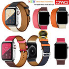 40/44mm Genuine Leather Watch Band Tour Strap Bracelet for Apple Watch Series 4