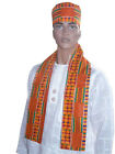 Внешний вид - African Kente Print Hat and Sash/Scarf DP0795