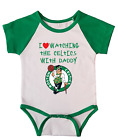 Boston Celtics Love Watching With Daddy Baby Short Sleeve Bodysuit Green on eBay