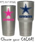 Dallas Cowboys Football Decal for NFL YETI Tumbler 20 30 Ozark RTIC Sticker $2.24 USD on eBay