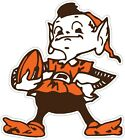 "Cleveland Browns ELF Color Die Cut Vinyl Decal Sticker  -You Choose Size 2""-28"" $4.95 USD on eBay"