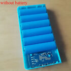 Dual usb 5v/2a 6x18650 power bank battery case box charger box for mobie phones