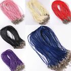 10pcs/lot Charms Real Leather Cord Chain Necklace With Lobster Clasp Wholesale