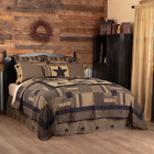 BLACK CHECK STAR Primitive Farmhouse Quilt Sets - Choose Your Accessories image