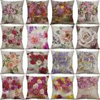 Vintage Flower Cotton Linen Cushion Cover Throw Pillow Case Sofa Home Decor
