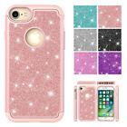 for iPhone X XR XS Max 6 S 7 8 Plus ShockProof  Silicone + Bling PC Cover Case