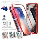 Case For iPhone XS Max X 8 7 Tempered Glass Metal Magnetic Adsorption Cover AU