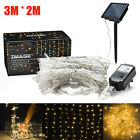3M*2M Solar Powered Waterproof LED Curtain String Fairy Lights In/Outdoor Decors