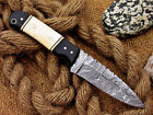 Damascus Twisted Pattern Skiner knive