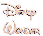 Wooden mdf Script Word Set of 2 Disney Font Disney Wonder 25mm