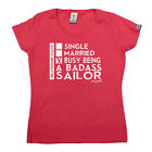 Sailing Tops T-Shirt Funny Novelty Womens tee TShirt - Relationship Status Badas