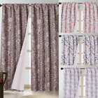 1 Pair Floral Tropical Design Rod Pocket Blackout Window Curtains Set WARDA