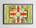 1930 Game of India Parcheesi Game Board POSTER up to 24 x 36 Vintage