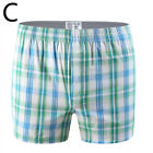 Men Cotton Plaid Underwear Arrow Pants Loose Boxer Home Lounge Shorts Plus Size