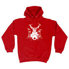Music Band Hoodie Hoody Funny Novelty hooded Top - Gorilla Drummer