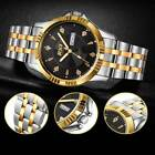 Men Casual Stainless Steel Band Quartz Analog Round Wrist Watch Fathers Day Gift image